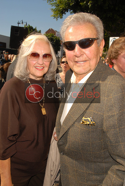 Mike Connors and wife Mary Lou Willey<br /> at the Hollywood Walk of Fame induction ceremony for Peter Graves, Hollywood, CA. 10-30-09<br /> David Edwards/Dailyceleb.com 818-249-4998