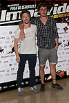 26.07.2012. Premier at Palafox Cinema in Madrid of the movie 'Impavido´, directed by Carlos Theron and starring by Marta Torne, Selu Nieto, Nacho Vidal, Carolina Bona, Julian Villagran and Manolo Solo. In the image Jan Cornet and Iván Massagué (Alterphotos/Marta Gonzalez)