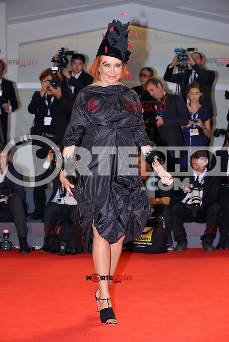 August 30, 2012: Marina Ripa di Meana attends the &quot;Superstar&quot; Screening during the 69th Venice International Film Festival at Palazzo del Casino in Venice, Italy..Credit: &copy; F2F / MediaPunch Inc. /NortePhoto.com<br />
