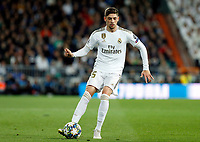 Real Madrid CF's Fede Valverde seen in action during UEFA Champions League match, groups between Real Madrid and Galatasaray SK at Santiago Bernabeu Stadium in Madrid, Spain. November, Wednesday 06, 2019.(ALTERPHOTOS/Manu R.B.)<br /> Champions League 2019/2020  <br /> Real Madrid - Galatasaray<br /> Foto Alterphotos / Insidefoto <br /> ITALY ONLY