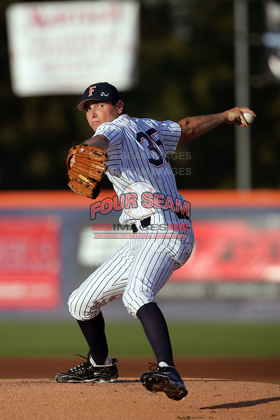 March 27, 2010: Daniel Renken of Cal. St. Fullerton during game against Hawaii at Goodwin Field in Fullerton,CA.  Photo by Larry Goren/Four Seam Images
