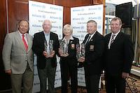 Donal Bollard, Paddy Horgan Headford GC, Doloras Buttler Headford Lady Captain, Fred Reilly Headford Captain and Liam Kelly Irish Independent Golfing Editor...Photo: Newsfile/Fran Caffrey.