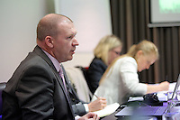 Pictured: Chief Superintendent Paul Griffiths Thursday 02 March 2017<br /> Re: Multi-agency Wales and Albania Anti-Slavery Meeting discussing issues of people trafficking by organised gangs, Cardiff, UK