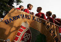 .Kids from the group Barnyard Kids 4-H line up for the opening parade  of the Fair. ...schenker IMG_9507.JPG