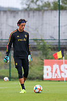 20190903 – TUBIZE , BELGIUM : Belgian goal keeper Mile Svilar is pictured during a training session of the U21 youth team of the Belgian national soccer team Red Devils , a training session as a preparation for their first game against Wales in the qualification for the European Championship round in group 9 on the road for Hungary and Slovenia in 2021, Tuesday 3rd of September 2019 at the National training grounds in Tubize , Belgium. PHOTO SPORTPIX.BE | Sevil Oktem