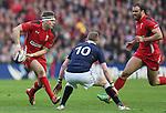 Dan Biggar of Wales - RBS 6Nations 2015 - Scotland  vs Wales - BT Murrayfield Stadium - Edinburgh - Scotland - 15th February 2015 - Picture Simon Bellis/Sportimage