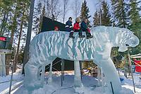 Ice Sculptor, Multi-block, 2004 World Ice Art Championships, Fairbanks Alaska.