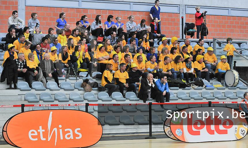 Beker Van Vlaanderen U19 meisjes ; Sint - Katelijne - Waver - Basket Lummen : talrijk opgekomen publiek uit Lummen.foto VDB  / Bart Vandenbroucke