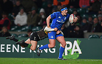 28th December 2019; Twickenham, London, England; Big Game 12 Womens Rugby, Harlequins versus Leinster; Lindsay Peat of Leinster is tackled by Emily Scott of Harlequins - Editorial Use