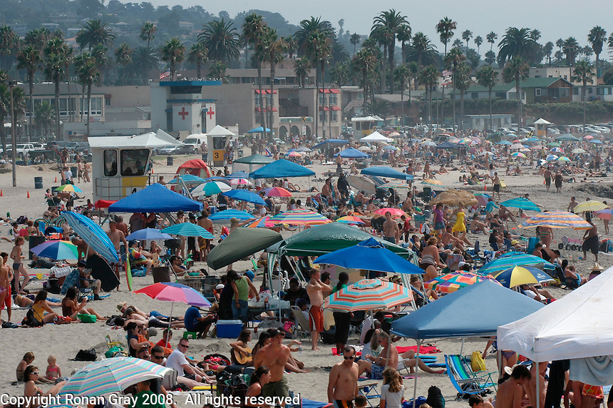 September 1, 2008.  Labor Day Holiday Ocean Beach CA, USA