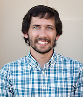 Jeffrey Cannon '07, Assistant Professor, Chemistry, Sept. 17, 2014.<br /> (Photo by Marc Campos, Occidental College Photographer)