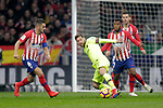 (L to R) Club Atletico de Madrid's Koke Resurreccion, Thomas Lemar, Lucas Hernandez and Futbol Club Barcelona's Leo Messi  during La Liga match. November 24,2018. (ALTERPHOTOS/Alconada)