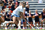 01 May 2016: North Carolina's Carly Reed picks up a loose ball. The University of North Carolina Tar Heels played the Syracuse University Orange at Lane Stadium in Blacksburg, Virginia in the 2016 Atlantic Coast Conference Women's Lacrosse Tournament championship match. North Carolina won 15-14 in overtime.
