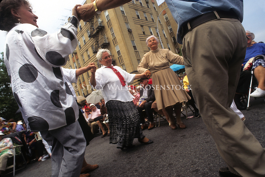 Brooklyn, New York - 1 June 1995 - Soviet Emigrees dance at a Jewish Pride Festival in Brighton Beach.
