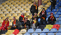 20191108 - Zapresic , BELGIUM : Belgian fans and supporters pictured during the female soccer game between the womensoccer teams of  Croatia and the Belgian Red Flames , the third women football game for Belgium in the qualification for the European Championship round in group H for England 2021, friday 8 th october 2019 at the NK Inter Zapresic stadium near Zagreb , Croatia .  PHOTO SPORTPIX.BE | DAVID CATRY