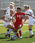 UNLV Rebels Katherine Orellana plays against Nevada in a soccer game in Reno, Nev., on Sunday, Sept. 3, 2011..Photo by Cathleen Allison