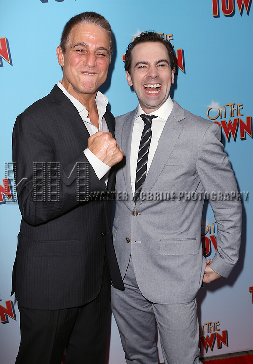 Tony Danza and Rob McClure attends the Broadway Opening Night Performance of 'On The Town'  at the Lyric Theatre on October 16, 2014 in New York City.