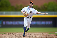Durham Bulls relief pitcher Adam Kolarek (28) delivers a pitch to the plate against the Buffalo Bison at Durham Bulls Athletic Park on April 25, 2018 in Allentown, Pennsylvania.  The Bison defeated the Bulls 5-2.  (Brian Westerholt/Four Seam Images)