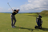 Ronan Mullarney (Galway) on the 10th fairway during the Final of the AIG Irish Amateur Close Championship 2019 in Ballybunion Golf Club, Ballybunion, Co. Kerry on Wednesday 7th August 2019.<br /> <br /> Picture:  Thos Caffrey / www.golffile.ie<br /> <br /> All photos usage must carry mandatory copyright credit (© Golffile | Thos Caffrey)