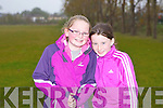 Alison Guerin and Lisa Costello competing in the Boherbue-Cloghers-Manor community games at the Tralee Harriers athletic club on Friday.
