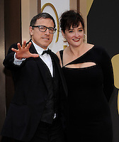 HOLLYWOOD, CA - MARCH 2: David O. Russell, Janet Grillo arriving to the 2014 Oscars at the Hollywood and Highland Center in Hollywood, California. March 2, 2014. Credit: SP1/Starlitepics. /NORTePHOTO