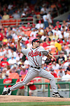 The Braves' Kyle Davies throws a pitch on Monday, May 30, 2005. The Washington Nationals defeated the Atlanta Braves 3-2 at RFK Stadium in Washington, DC.