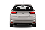 Straight rear view of a 2018 Citroen C4 Spacetourer Business + 5 Door MPV stock images