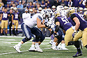 SEATTLE, WA - September 29:  BYU's Austin Hoyt against Washington during the college football game between the Washington Huskies and the BYU Cougars on September 29, 2018 at Husky Stadium in Seattle, WA. Washington won 27-20 over BYU.