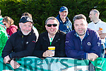 Noel Murphy Connie Sullivan and Peter O'Brien cheering on  Killarney Celtic against Sheriff in the FAI cup semi final on Saturday