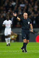 Referee Szymon Marciniak <br /> <br /> Photographer Craig Mercer/CameraSport<br /> <br /> UEFA Champions League Round of 16 Second Leg - Tottenham Hotspur v Juventus - Wednesday 7th March 2018 - Wembley Stadium - London <br />  <br /> World Copyright &copy; 2017 CameraSport. All rights reserved. 43 Linden Ave. Countesthorpe. Leicester. England. LE8 5PG - Tel: +44 (0) 116 277 4147 - admin@camerasport.com - www.camerasport.com