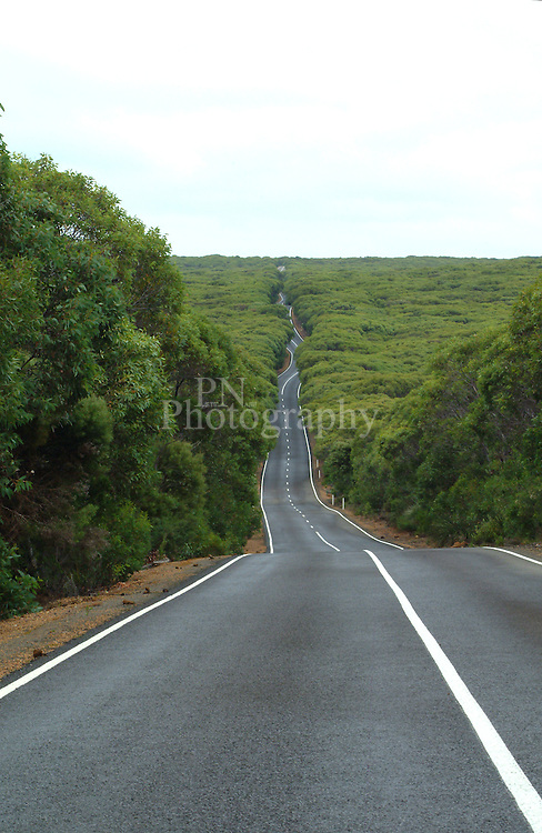 Photo taken 2007 before the fires on the road that leads to Remarkable Rocks and Admirals Arch Kangaroo Island South Australia