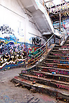 Abandoned Power Station Staircase 02 - The abandoned South Fremantle Power Station, North Coogee, Perth, Western Australia.