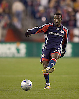 New England Revolution forward Kenny Mansally (29). The Chicago Fire defeated the New England Revolution, 3-0, at Gillette Stadium on May 3, 2008.
