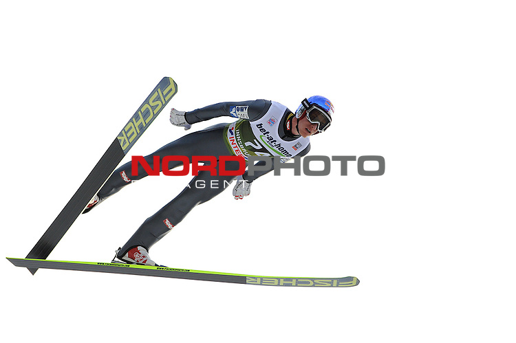 Innsbruck, Austria 03.01.2014 <br /> 2013-14 Vierschanzentournee, <br /> FIS Ski Jumping World Cup <br /> Gregor Shlierenzauger of Austria in action during the FIS Ski Jumping World Cup Vierschanzentournee on January 3, 2014 in Innsbruck, Austria.<br /> <br /> Foto &not;&copy; nph / Pier Paolo Piciucco