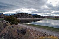 Lake Shastina near Mount Shasta in the Fall, California, USA.