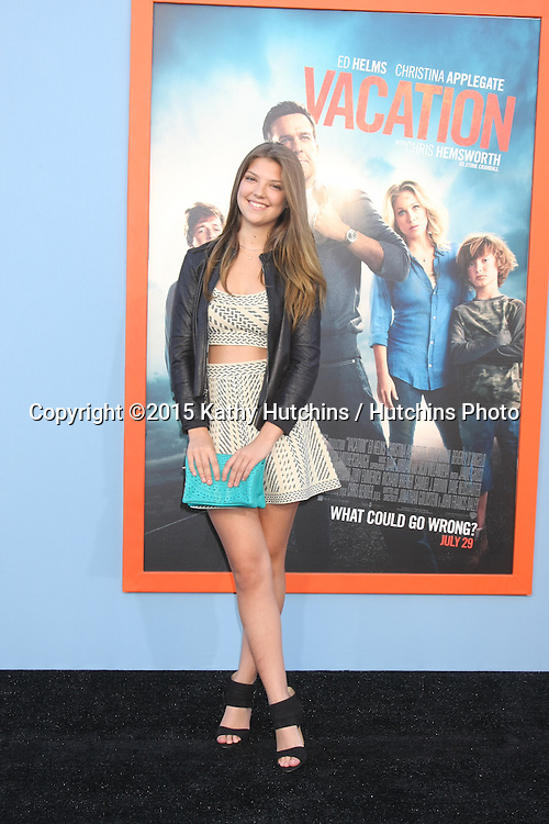 """LOS ANGELES - JUL 27:  Catherine Missel at the """"Vacation"""" Premiere at the Village Theater on July 27, 2015 in Westwood, CA"""