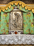 Tabernacle at the altar, Parish S Martino Vescovo, the colorful village of Burano, Italy.