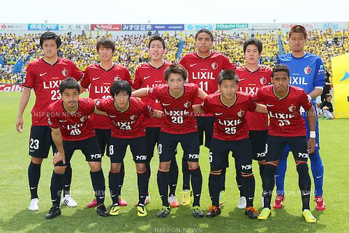 Kashima Antlers team group line-up, MAY 3, 2014 - Football /Soccer : 2014 J.LEAGUE Division 1 match between Kashiwa Reysol 1-0 Kashima Antlers at Hitachi Kashiwa Stadium, Chiba, Japan. (Photo by Yohei Osada/AFLO SPORT) [1156]