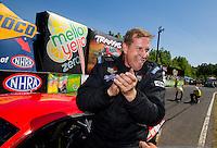 Jun 7, 2015; Englishtown, NJ, USA; NHRA pro mod driver Bill Glidden celebrates after winning the Summernationals at Old Bridge Township Raceway Park. Mandatory Credit: Mark J. Rebilas-