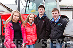 Sarah O'Sullivan, Aisling O'Connell, Jack Flynn and Diarmuid McCarthy  at the Castleisland Community College Vintage rally on Sunday