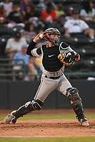 Adley Rutschman (37) Delmarva Shorebirds in action during game one of the Northern Division, South Atlantic League Playoffs against the Hickory Crawdads at L.P. Frans Stadium on September 4, 2019 in Hickory, North Carolina. The Crawdads defeated the Shorebirds 4-3 to take a 1-0 lead in the series. (Tracy Proffitt/Four Seam Images)