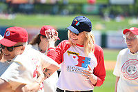 "NWA Democrat-Gazette/J.T. WAMPLER Image from Sunday May 7, 2017 during the ""A League of Their Own"" reunion softball game at Arvest Ballpark in Springdale. The event concluded the Bentonville Film Festival."