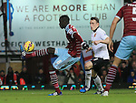 West Ham's Cheikhou Kouyate tees himself to score his sides opening goal<br /> <br /> Barclays Premier League- West Ham United vs Manchester United  - Upton Park - England - 8th February 2015 - Picture David Klein/Sportimage