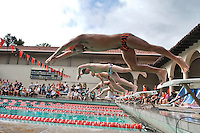 Dec 1, 2012; Los Angeles, CA, USA; Redlands at Occidental swimming. (Photo by Kirby Lee, Freelance)