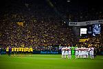 11.05.2019, Signal Iduna Park, Dortmund, GER, 1.FBL, Borussia Dortmund vs Fortuna Düsseldorf, DFL REGULATIONS PROHIBIT ANY USE OF PHOTOGRAPHS AS IMAGE SEQUENCES AND/OR QUASI-VIDEO<br /> <br /> im Bild | picture shows:<br /> Gedenkminute für den verstorbenen Lothar Geissler, <br /> <br /> Foto © nordphoto / Rauch