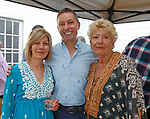 Washington, CT- 081217MK23 (from left) Lisa Coleman, Michael and Margie Del-Min gathered at the St. John's Surf and or Turf Shore Dinner and wine tasting at the St. John's Church Parish House. The event concluded the Food Fest fund raiser that helps to support Emergency Fund that provides assistance to locals faced with urgent financial needs for food, fuel and medicines. Michael Kabelka / Republican-American