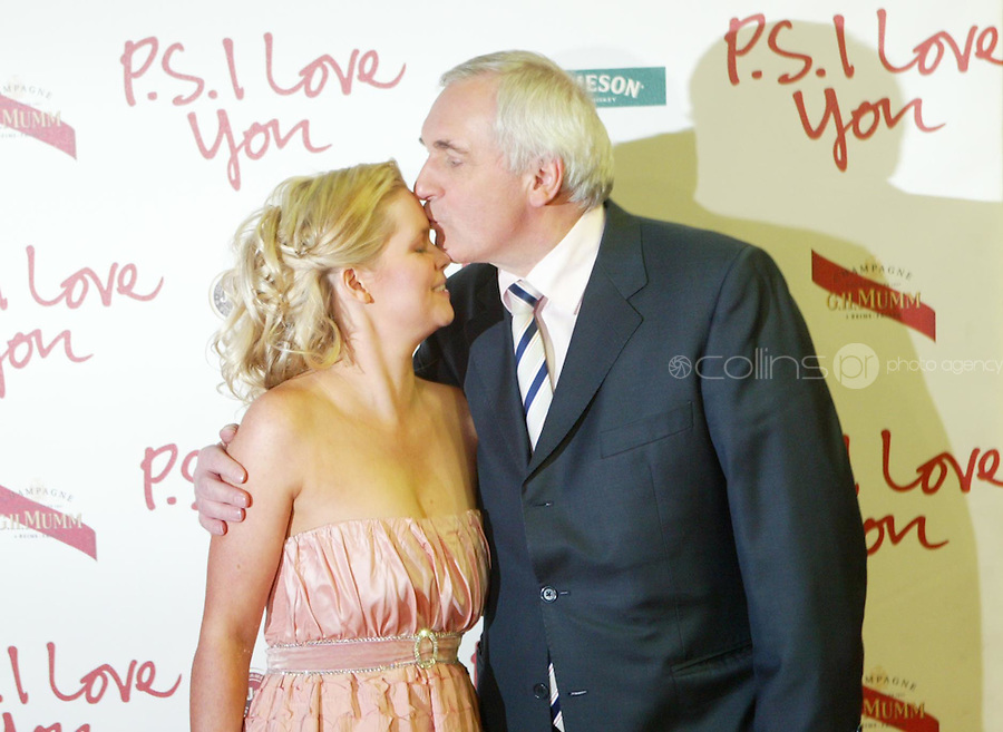 19/12/2007.(L TO R) .Cecilia Ahern, & An Taoiseach Bertie Ahern TD   at the Film Premiere of PS I Love You at The Savoy Cinema, dublin..Photo: Gareth Collins
