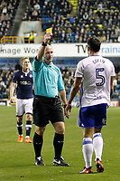 Maxime Colin of Birmingham City is booked during the Sky Bet Championship match between Millwall and Birmingham City at The Den, London, England on 21 October 2017. Photo by Carlton Myrie.