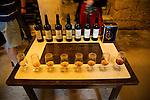 Glasses samples cognac production in Gonzalez Byass bodega, Jerez de la Frontera, Cadiz province, Spain