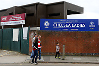 Some Liverpool fans state arriving for the match during Chelsea Ladies vs Liverpool Ladies, FA Women's Super League FA WSL1 Football at Kingsmeadow on 7th October 2017
